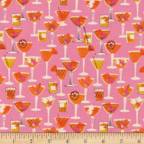 Poolside -- Shaken in Pink by Melody Miller and Alexia Marcelle Abegg for Cotton and Steel