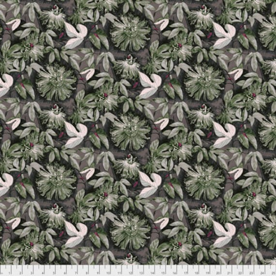 Passion Flower by Anna Horner for Free Spirit Fabrics - Passiflora in Glimmer