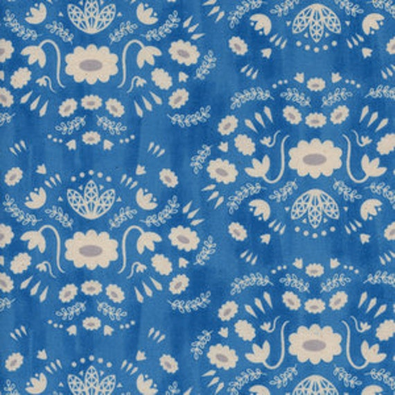 Flower Shop by Alexia Marcelle Abegg for Cotton and Steel - Fat Quarter- Folk Dress in Sea