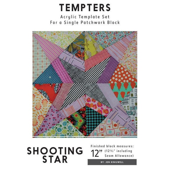 Shooting Star Tempter by Jen Kingwell -- Acrylic Template Set With Instructions