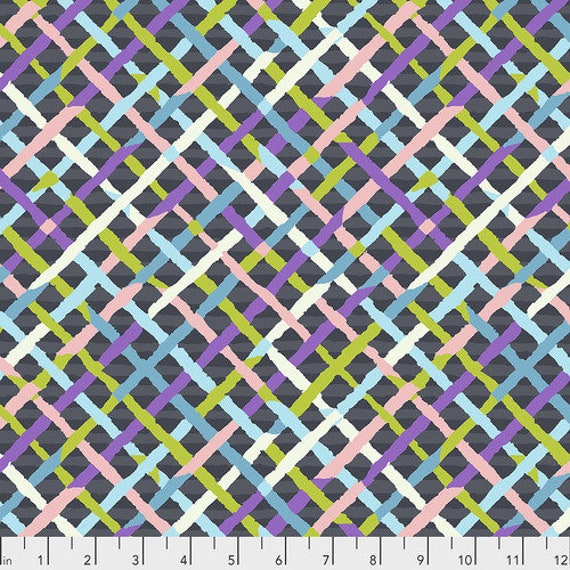 Kaffe Fassett Collective Fall 2018 -- Fat Quarter of Brandon Mad Plaid in Contrast