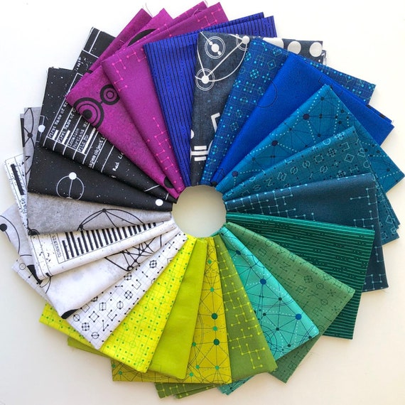 IN STOCK! Declassified by Giucy Giuce for Andover Fabrics - Fat Quarter Bundle of 22