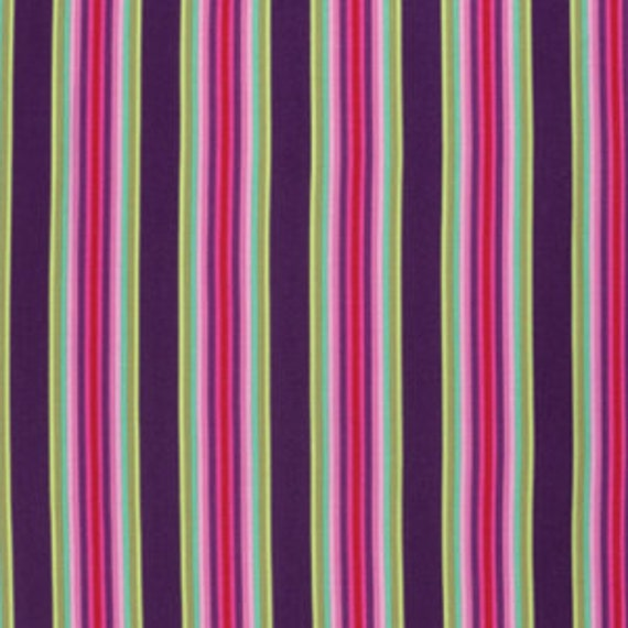 Fat Quarter Tick Tock Stripe in Raspberry - Tula Pink Chipper