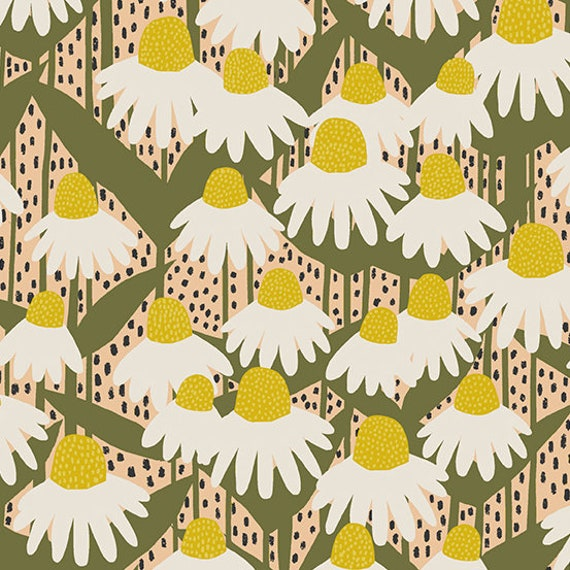 Perennial by Sarah Golden for Andover Fabrics - Fat Quarter of Coneflower in Sunshine
