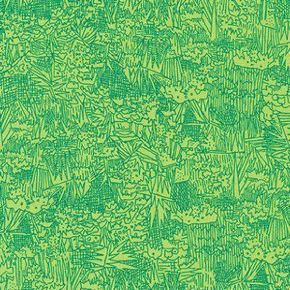 In Stock! Friedlander by Carolyn Friedlander - Fat Quarter- Green Wall Lawn in Ultra Marine