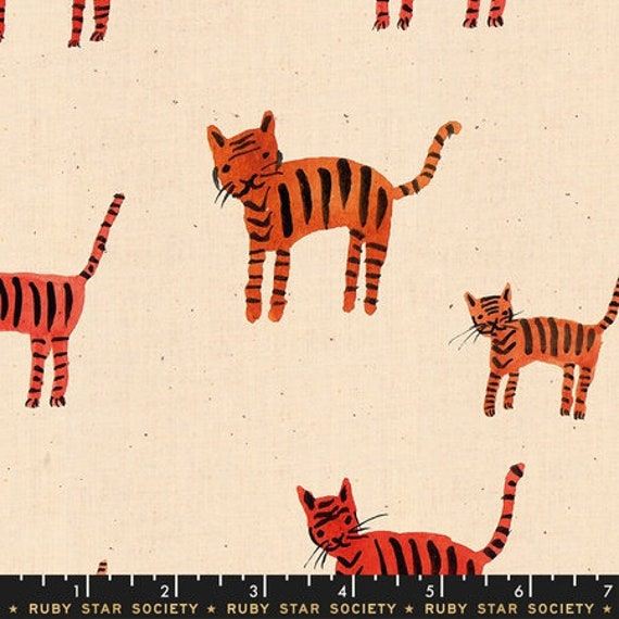 Darlings -- Tigers in Orange (RS5021-11) by Ruby Star Society for Moda -- Fat Quarter