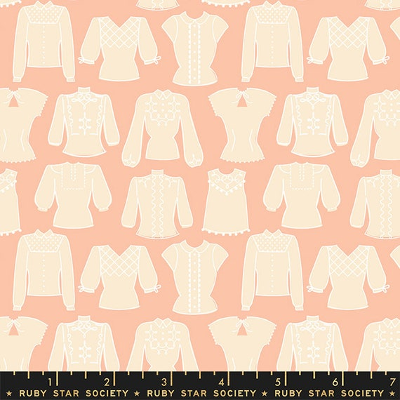 First Light Blouses in Peach Blossom  (RS050-13) by Ruby Star Society for Moda -- Fat Quarter