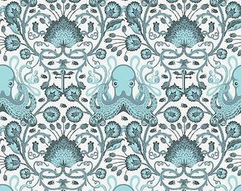 Fat Quarter Octogarden on Cream  - Tula Pink's Saltwater Fabric for Free Spirit Fabrics