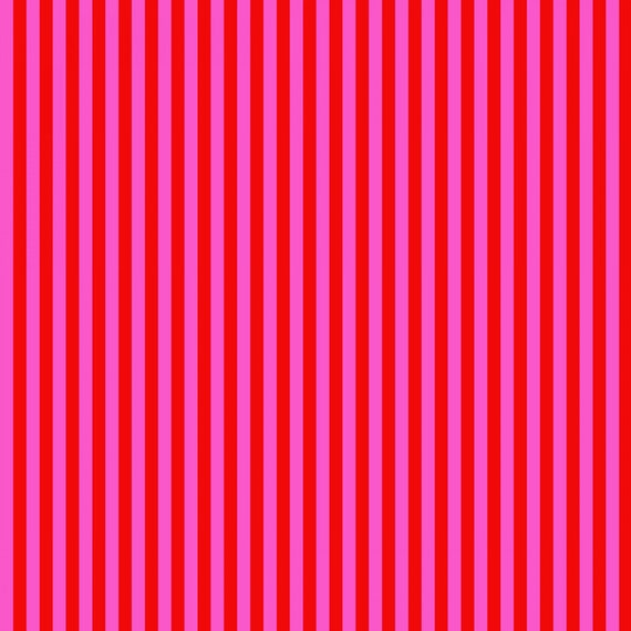 Fat Quarter Tent Stripe in Peony  - Tula Pink's All Stars Fabric for Free Spirit Fabrics
