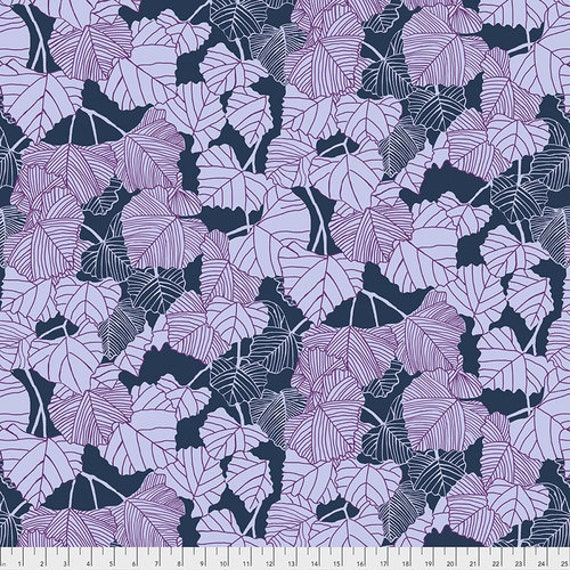 After the Rain by Bookhou for Anna Maria Horner Conservatory Chapter 3 with Free Spirit Fabrics- Fat Quarter of Shadow in Navy