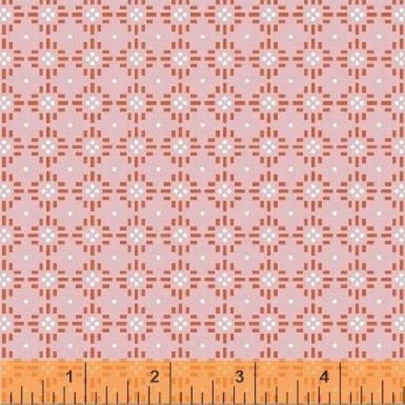 Uppercase Volume 2 by Janine Vangool for Windham Fabrics - Flower Stitch in Pink - Fat Quarter