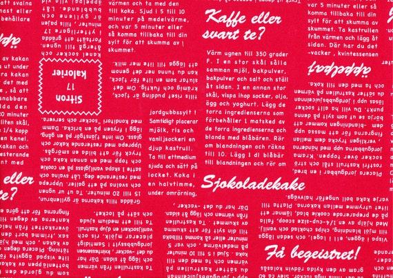 Lighthearted by Ayumi Takahashi for Kokka - Swedish News in Red