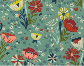 Songbook--  Posie Pocket Floral in Deep Waters (45522 17) by Fancy that Design House for Moda -- Fat Quarter