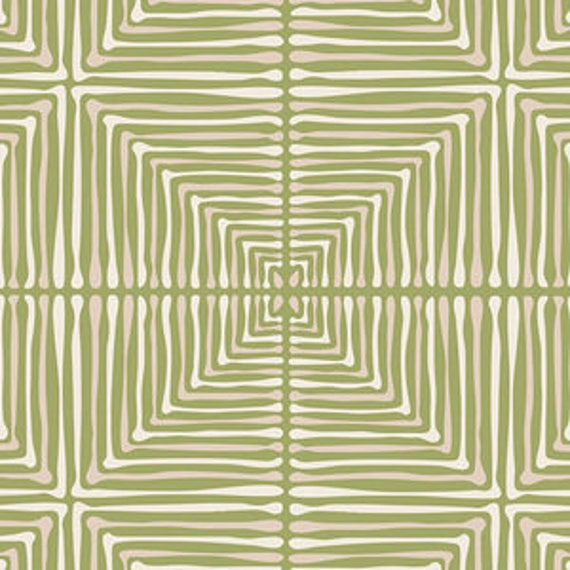 Love Story by Maureen Cracknell for Art Gallery Fabrics - Darling Echoes in Vert