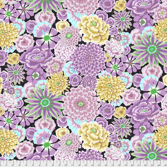 Kaffe Fassett Collective Fall 2018 -- Fat Quarter of Kaffe Fassett Enchanted in Grey