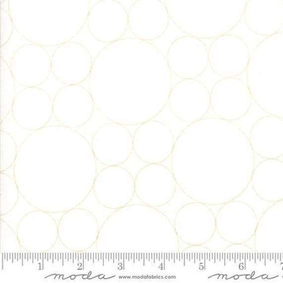 Moda Thrive Sassy Green in Off White Geo Pearls (1090511) by Natalia and Kathleen -- Fat Quarter
