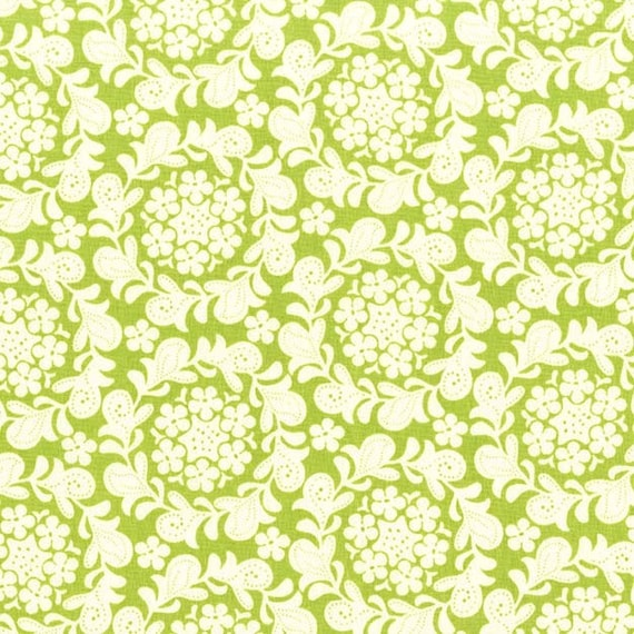 Strawberry Moon bySandi Henderson for Michael Miller - Petite Henna Garden in Grass - Fat Quarter