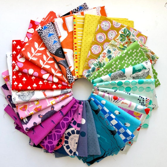 Cotton and Steel Fabrics - Fat Quarter Bundle of 24