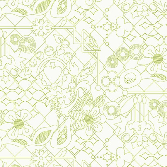 Sunprint Light by Alison Glass -- Fat quarter of Overgrown in Pear