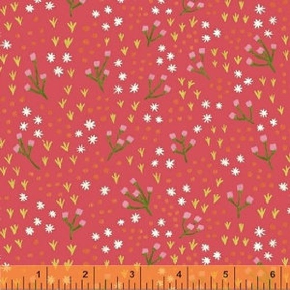 Meriwether by Amy Gibson for Windham Fabrics - High Meadow in Honeysuckle - Fat Quarter