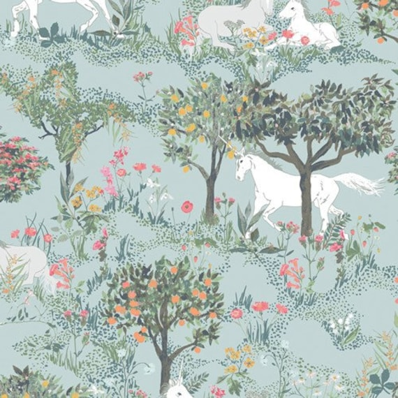 Picturesque by Katarina Rocella for Art Gallery Studio-  Fat Quarter of Mystical Quest by Day