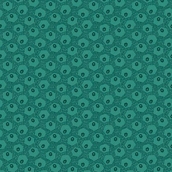 Washington Depot by Denyse Schmidt for Free Spirit Fabrics -  Hex Tex in Teal