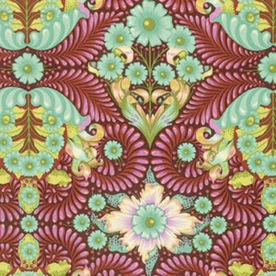 Slow and Steady Fat Quarter The Tortoise in Orange Crush - Tula Pink Chipper