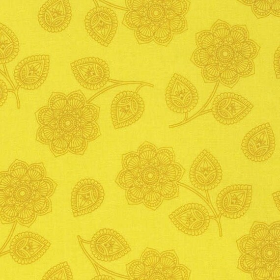Fat Quarter Henna in Mustard - Tula Pink Eden