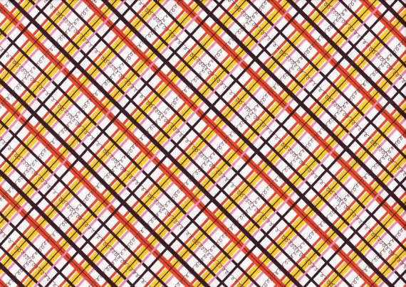Lighthearted by Ayumi Takahashi for Kokka - Plaid in Yellow and Red