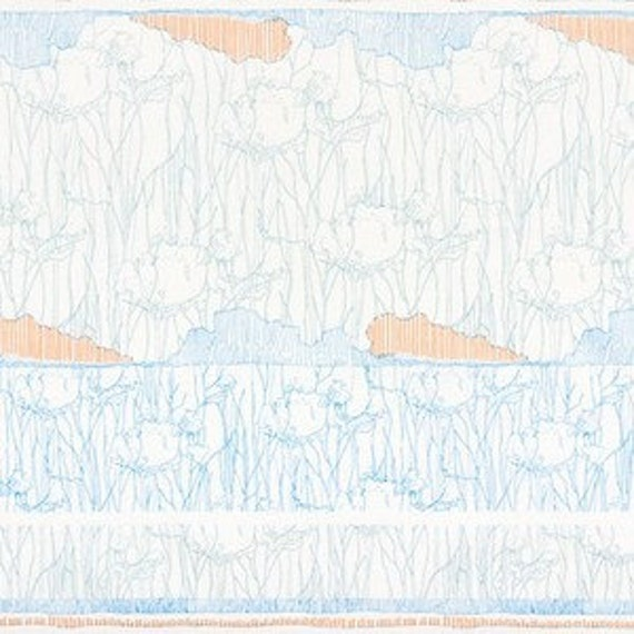 In Stock! Friedlander by Carolyn Friedlander -- fat quarter -- Tree Stripe Border in Dusty Blue