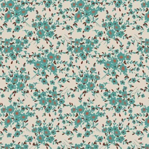 Spirited by Sharon Holland for Art Gallery Fabrics - - Fat Quarter Calico Days Aqua