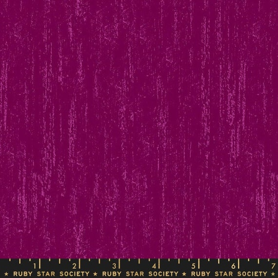 Crescent and Brushed -- Ruby Star Society Fabric, Brushed, RS2005-13 Purple Velvet, Sarah Watts -- Fat Quarter