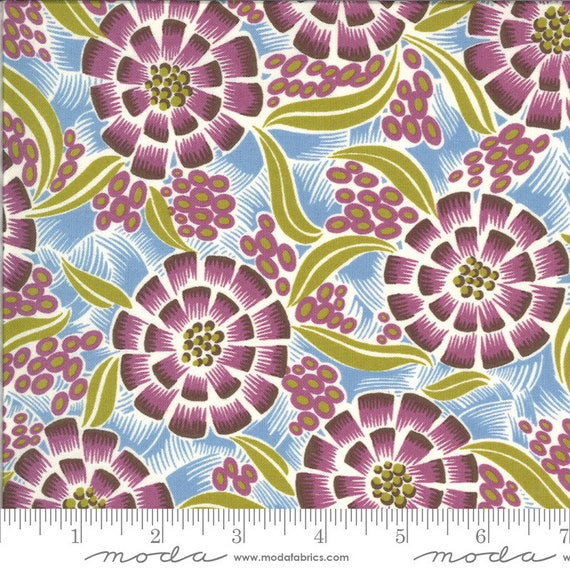 Moda Winkipop by Jen Kingwell -- Fat Quarter of 18190 19 Sea Anenome in Ocean Spray