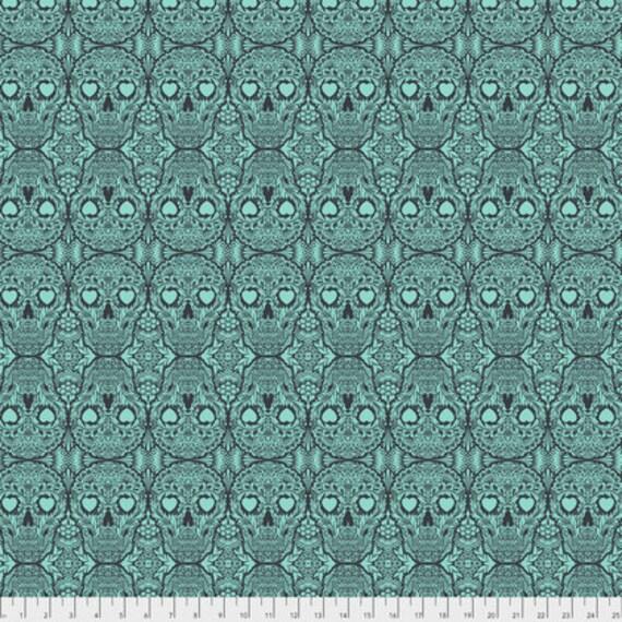 Fat Quarter Sugar Skulls in Spirit  - Tula Pink's De La Luna Fabric for Free Spirit Fabrics