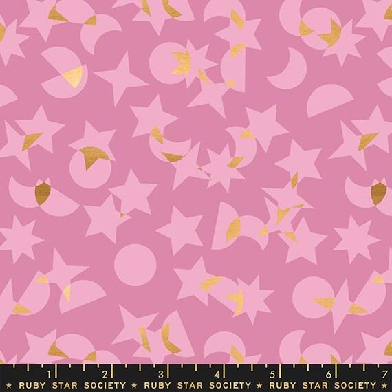 Stellar -- Ruby Star Society Fabric, RS1008-11M  Space Junk in Metallic Kiss by Rashida Coleman Hale-- Fat Quarter