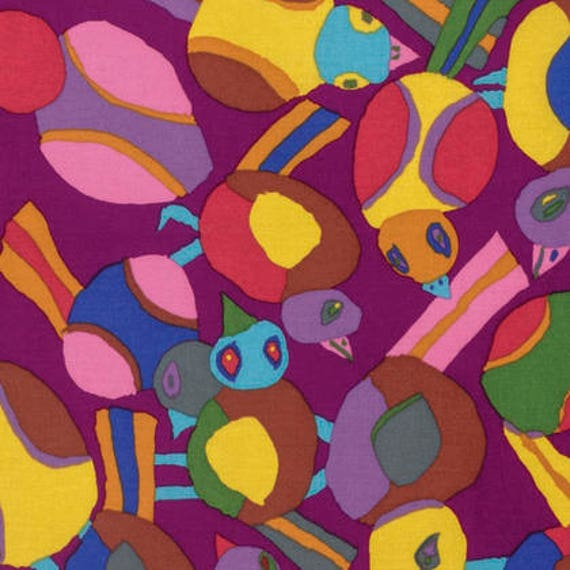 Kaffe Fassett Collective  -- Fat Quarter of Round Robin in Purple