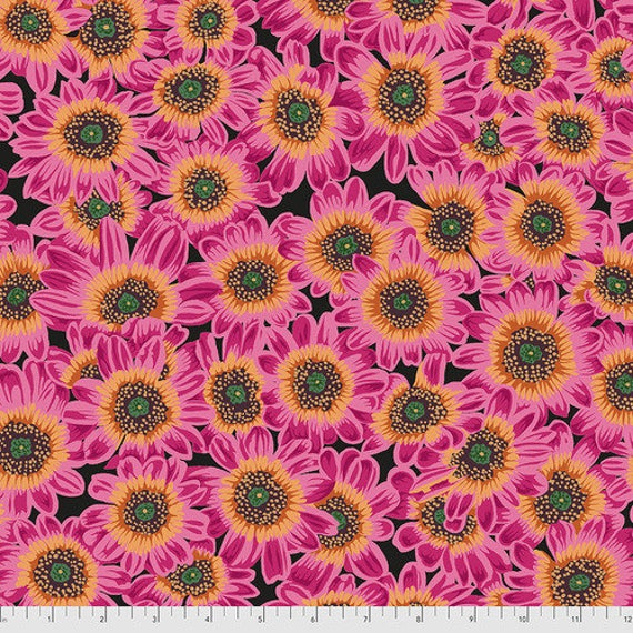 Kaffe Fassett Collective August 2021 -- Fat Quarter of Philip Jacobs Lucy in Magenta