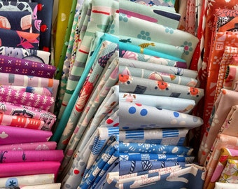 Fat 16th of various Cotton and Steel fabrics similar to shown in photo (72 in total) Rare OOP