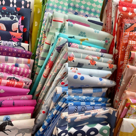 Fat 16th of various Cotton and Steel fabrics exactly as the ones shown in photo (72 in total) Rare OOP