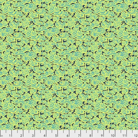 Amy Butler Natural Beauty -- Fat Quarter of Big Sky in Lime