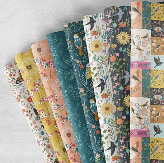 Dashwood Studio Aviary - Cotton Fabric- Fat Quarter Bundle