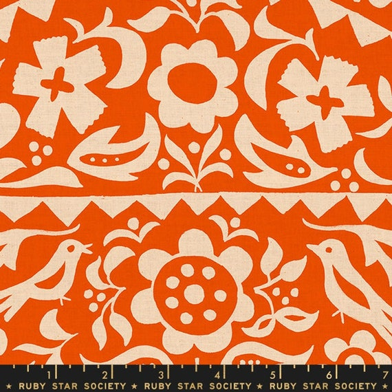 Add It Up and Alma by Alexia Marcelle Abegg -- Ruby Star Society Fabric, RS4001-15 Fat Quarter of Alma Floral Warm