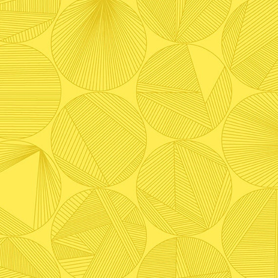 Redux by Guicy Guice for Andover Fabrics - Fat Quarter of Petri in Canary