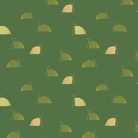 Dew and Moss by Alexandra Bordallo for Art Gallery Fabrics - Fat Quarter of Moss Snail Mail