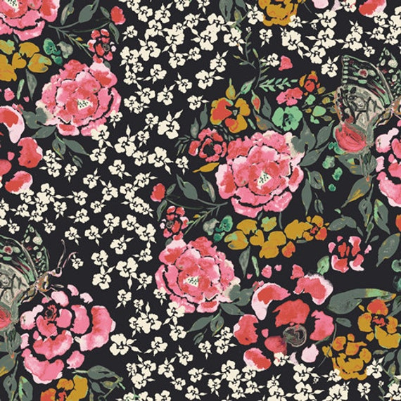 Art Gallery Jardin Robust in Rayon - Purchase in 25cm Increments