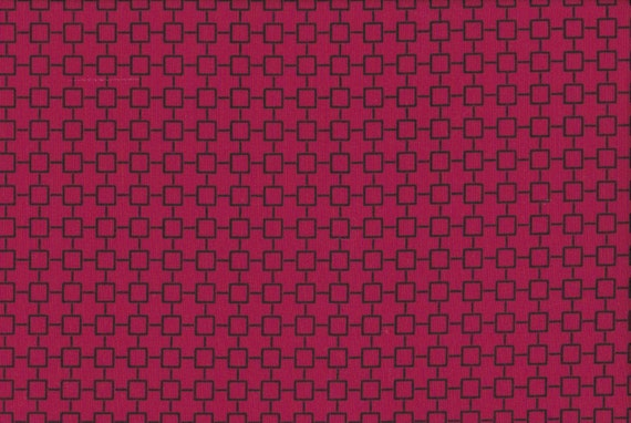 Japanese cotton fat quarter by Kei - Geosquares in red