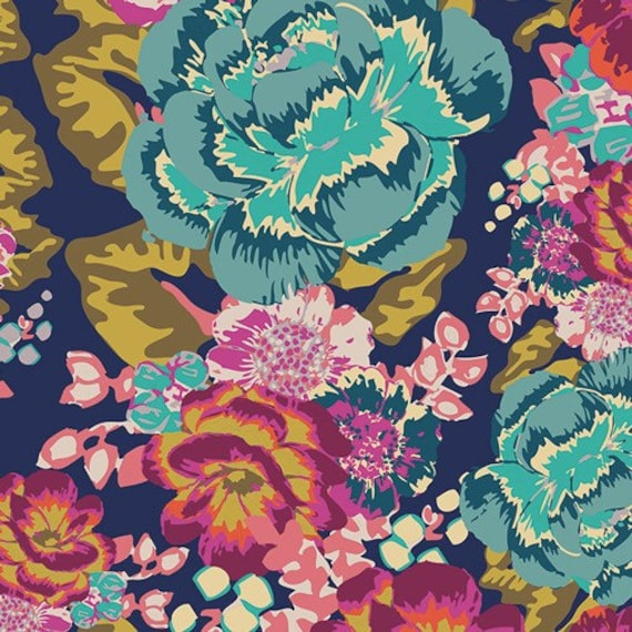 Boho Fusion by Art Gallery Fabrics - Acqua  di Rose Boho