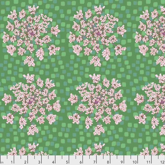 One Mile Radiant by Anna Maria Horner for Conservatory Chapter 3 with Free Spirit Fabrics- Fat Quarter of Queen Anne in Kiwi