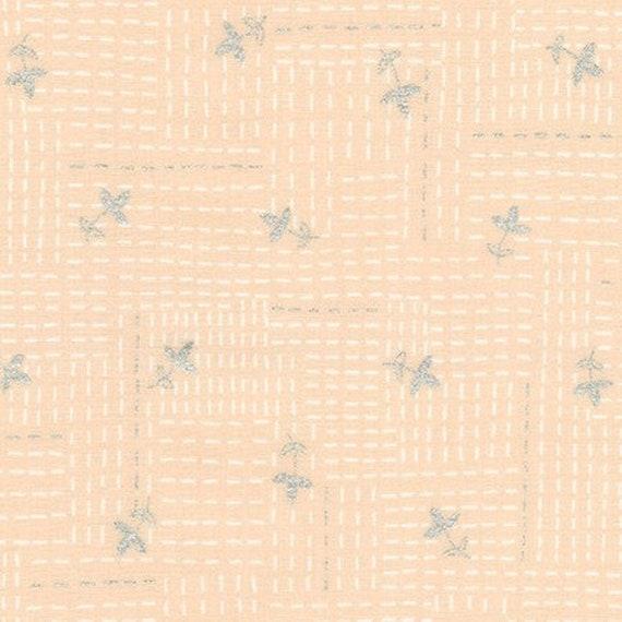 Robert Kaufman - Wayside by Karen Lewis - White stitch on peach (AWIM-18690-14)