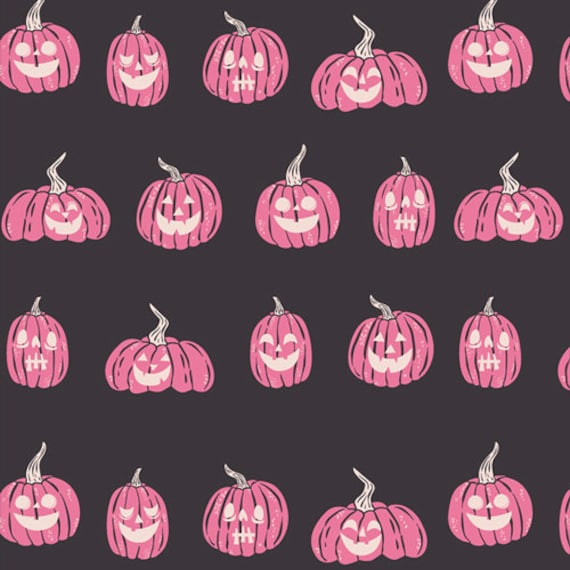 Spooky and Sweeter by Art Gallery Fabrics - Fat Quarter of Jack-O-Lanterns